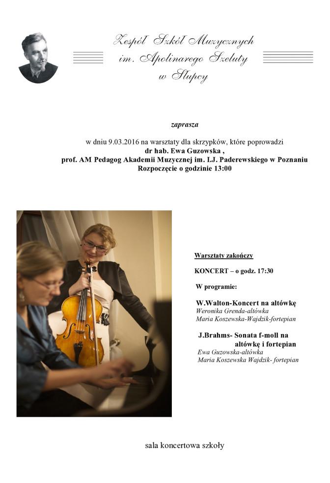 Plakat - warsztaty skrzypcowe