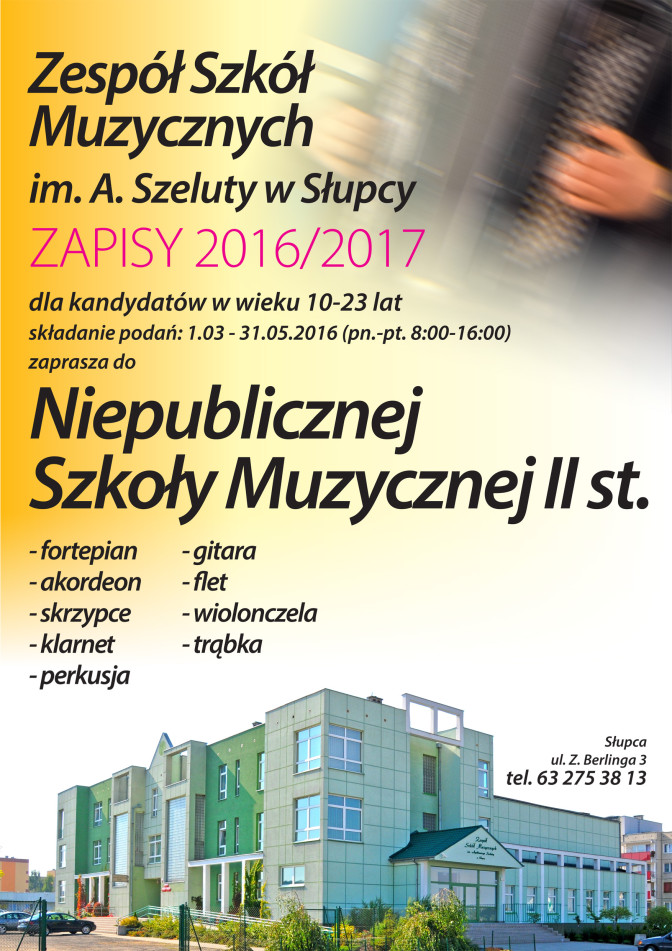 plakat rekrutacja NSM II st.